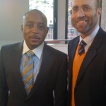 Daymond John and me on the set of 'Shark Tank'