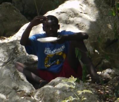Labadee Island beggar