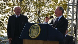 Tom Brokaw and Michael Bloomberg