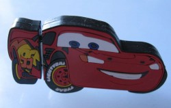 Disneyland's Cars Land drive is now a cheerful rubberized version of Lightning McQueen.