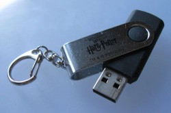 This is the most typical design for a thumb drive. Most press kits look like this. It's simple and it works.