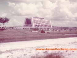 The Contemporary Resort was almost brand-new! This is a view from the Magic Kingdom. July 1973.