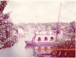 The Mike Fink Keel Boats operated on Rivers of America from 1971 to 2001.