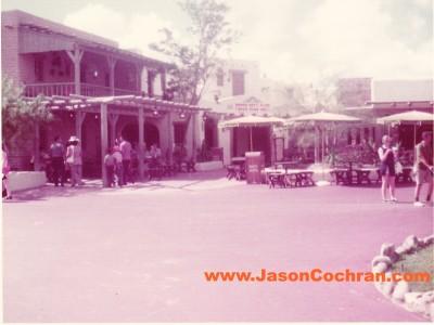 Pecos Bill Cafe, Frontierland, Magic Kingdom, Walt Disney World, July 1973.
