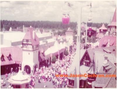 The Skyway at Magic Kingdom, Walt Disney World, near its western terminus.