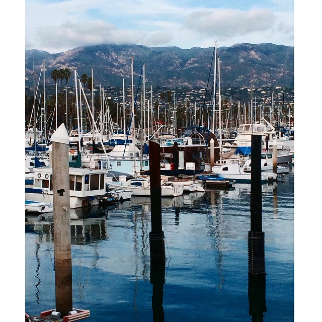 Mountains and masts #SantaBarbara #California #PacificOcean