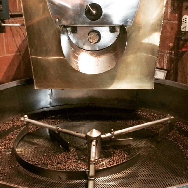 Beans en roast #California #SantaBarbara #coffee