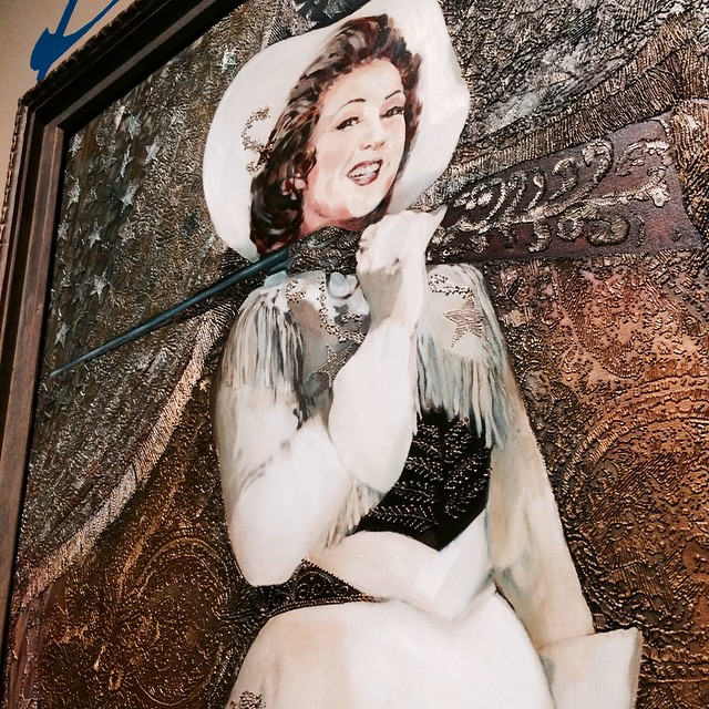 #RoadTrip outtake: Ethel Merman's portrait hangs in the dead center of the performers' wing at Washington, DC's National Portrait Gallery. They have it because she made sure they would: She gave it to them almost soon as Rosemarie Sloat finished painting it. (I wonder if she hated it.) Now the Merm has pride of place over all other actors. It's of her playing Annie Oakley in 1946's
