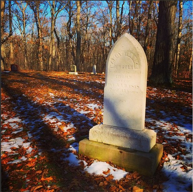 The grave of Nancy Hanks Lincoln (1784–1818), Spencer County, Indiana