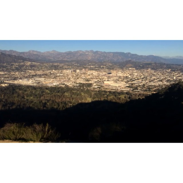 Summiting, the skyline, the hawk. #hyperlapse #LosAngeles