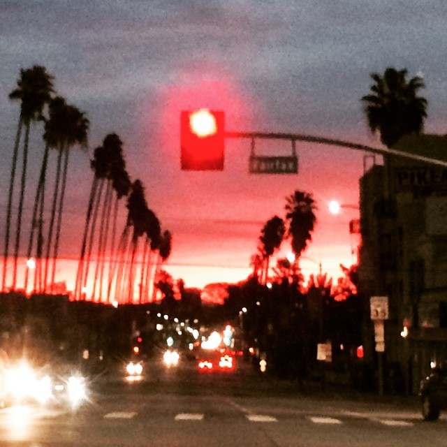 Sunrise on Sunset at Fairfax #LosAngeles #California