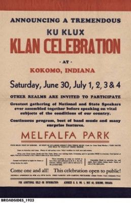 Apple preserves, picnics, and Christian Supremacy: The Indiana Klan's call for fellowship in 1923 (Credit: Indiana Historical Society)