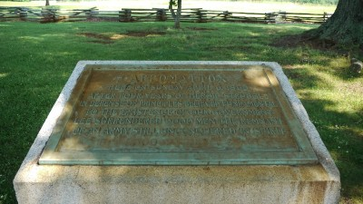 Appomattox United Daughters of the Confederacy plaque