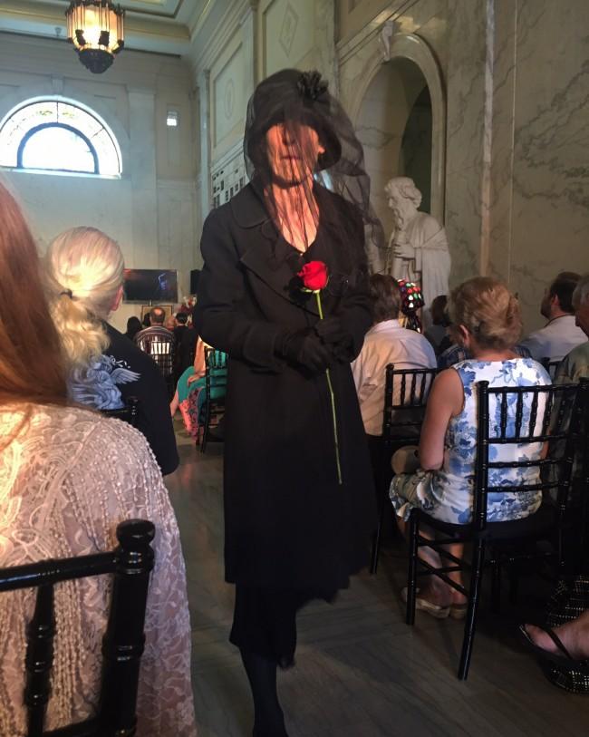 Valentino's Woman in Black