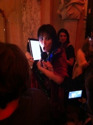 Michele Lee and an iPad