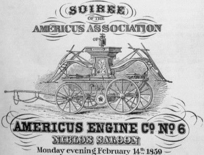 Americus Engine Co. No. 6 soiree poster