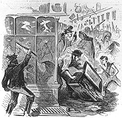 Black Joke Engine Company plunders draft office, 1863