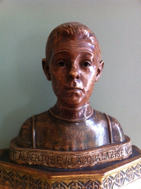 The young Count Alberto Bevilacqua, a muse of scultor Hendrik Christian Andersen, the special friend of writer Henry James. The bust remains in the home of Henry James, Lamb House, in Rye, England.