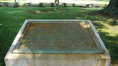 Appomattox United Daughters of the Confederacy plaque