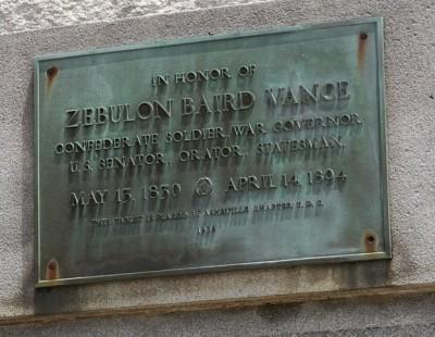 Asheville NC UDC memorial plaque