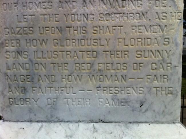Confederate plaque, Monticello, Florida