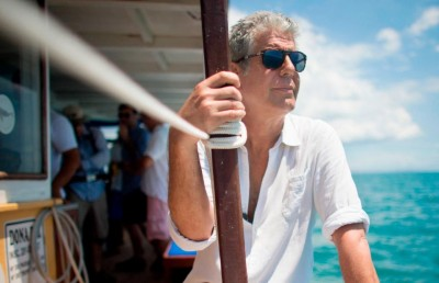 Anthony Bourdain on location in Salvador, Brazil, 2014. (CNN)